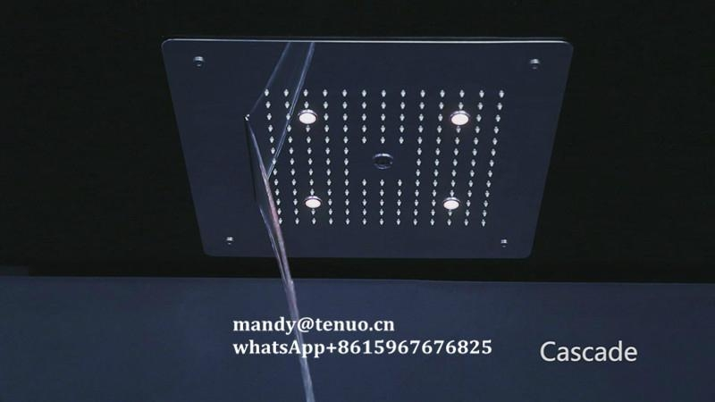 Concealed shower head with multi function 2
