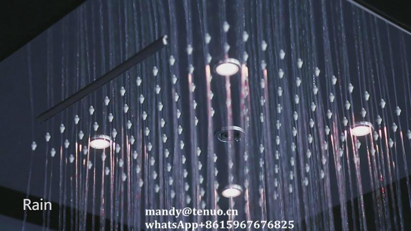 Concealed shower head with multi function 3