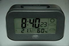 Calendar  clock with tempereture and humidity