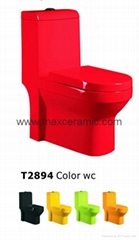 HOT SALE !!! Bathroom Dual Flush Ceramic Washdown One Piece Toilet