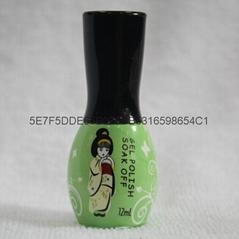 Colorful gel polish