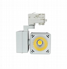 20W 30W LED Track light Cube Tracklight Horizontal Gear box