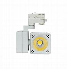 20W 30W LED Track light Cube Tracklight Horizontal Gear box