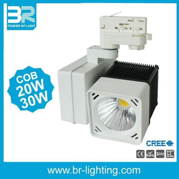 20W 30W LED Track light Cube Tracklight Horizontal Gear box  2