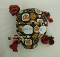 Stuffed skull with rope tug dog toy