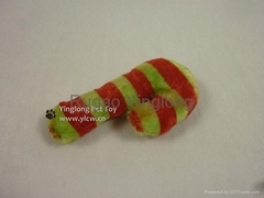 Xmas Plush Candy Cane Dog Toy, pet toy
