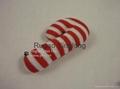 Xmas Knitting Candy Cane Dog Toy, pet