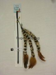 Leopard Pine Needle Plush Tail Feather Cat Teaser