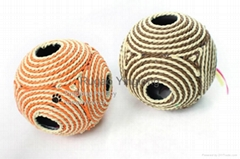 Six-Hole Rope Ball With Sound Scratch