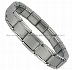 9mm DIY custom Italian stainless steel Nomination elastic bracelet