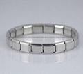 9mm DIY custom Italian stainless steel Nomination elastic bracelet  2