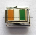 Handcraft National flags stainless steel charms Italian bracelet  4