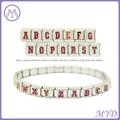 hand enameled Glitter alphabet letter Italian charms  4
