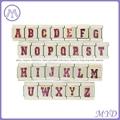 hand enameled Glitter alphabet letter Italian charms  2