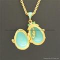 enamel crystal Faberge Egg Pendant necklace 3