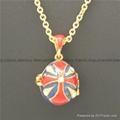 enamel crystal Faberge Egg Pendant necklace 5