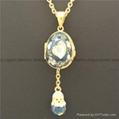 hand enamel ladybug Faberge Egg Pendant for necklace 3