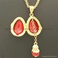 hand enamel ladybug Faberge Egg Pendant for necklace 2