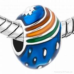 enamel Faberge Egg bead charms for European bracelet