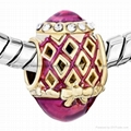 Russian Faberge Egg bead charms for European bracelet 4