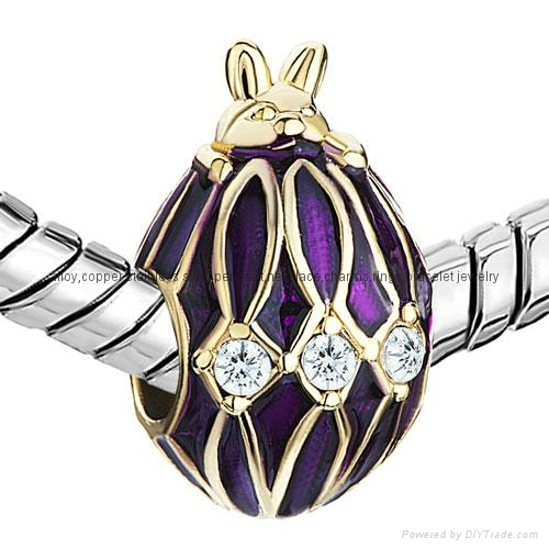 Russian Faberge Egg bead charms for European bracelet 3