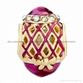 Russian Faberge Egg bead charms for European bracelet 5
