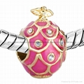 Russian Faberge Egg bead charms for
