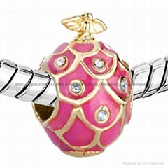Russian Faberge Egg bead charms for European bracelet