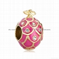 Russian Faberge Egg bead charms for European bracelet 2
