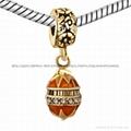 Christmas enamel crystal dangle bead charms for European bracelet 3