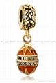 Christmas enamel crystal dangle bead charms for European bracelet 4