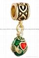 Christmas enamel crystal dangle bead charms for European bracelet 2