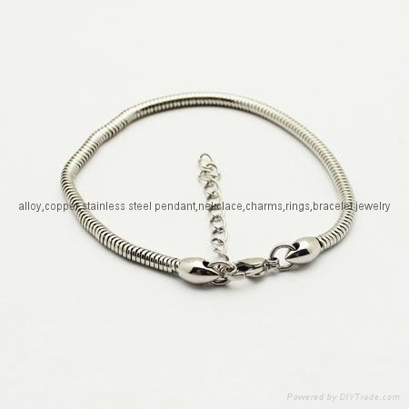 stainless steel snake bracelet fit for any brand charms 1