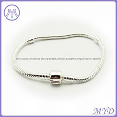 copper plating snake bracelet fit for any brand charms