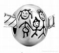 enamel metal bead charms for European bracelet 5