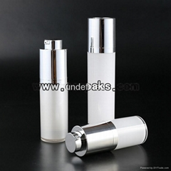 15ml 30ml 50ml rotary airless cosmetic bottle and round rotate airless bottle