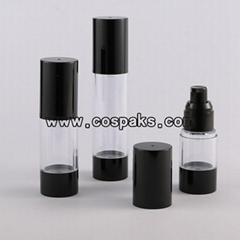 empty luxury cosmetic bottle packaging airless lotion bottle airless serum