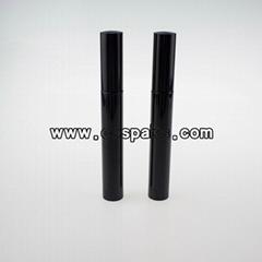 10ml black empty mascara tube with brush, 10ml black cosmetic packaging