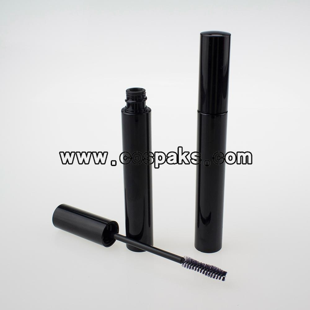 10ml black empty mascara tube with brush, 10ml black cosmetic packaging 2