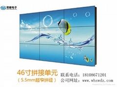 供应湖北襄樊46寸5.5mm三星液晶无缝拼接屏