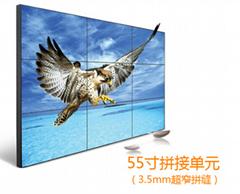 武汉厂家供应55寸3.5mm拼缝DID液晶拼接屏