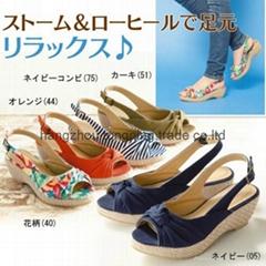 Women's High wedges sandals high heel espadrille shoes