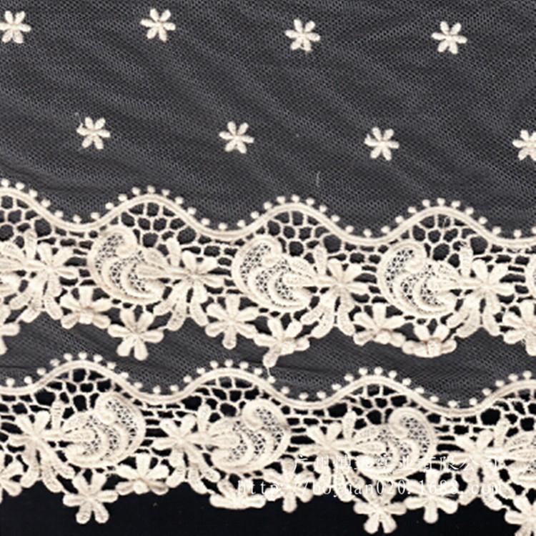 花纹水溶网布刺绣蕾丝花边 1