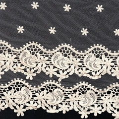 花紋水溶網布刺繡蕾絲花邊