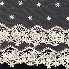 花纹水溶网布刺绣蕾丝花边