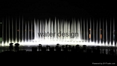 Amusement park water dancing musical fountain