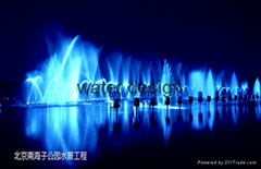 large outdoor water dancing musical fountain engineering