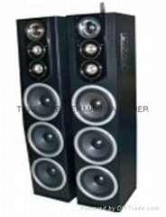 2.0 Audio Karaoke Player Home Theater Wooden DJ Sound Professional Active Stage