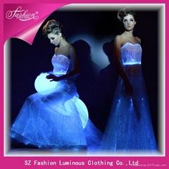 luminous evening dress, light up wedding dress, illuminated evening gown (