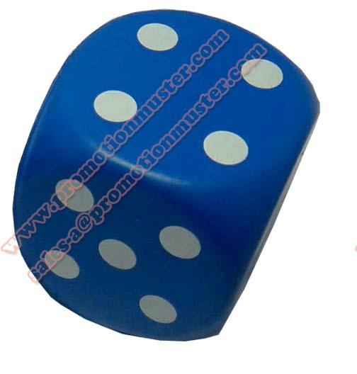 PO0003 popular cube dice with imprint artwork educational toys pu foam reliever 1